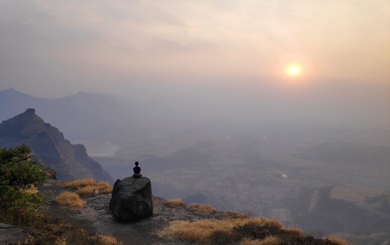 Harishchandragad konkankada sunset