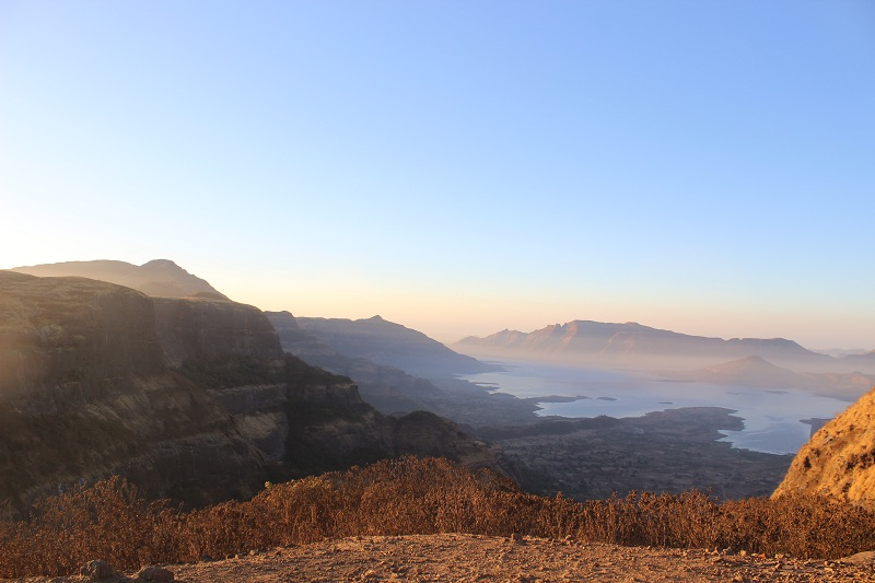 Harishchandragad view from sunrise point after tolar khind