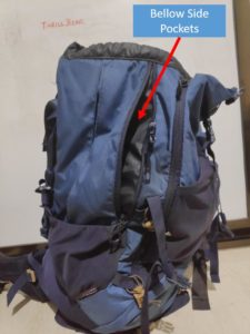 Backpack Bellow Side Pockets