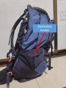 Backpack Elasticated Pocket