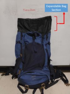 Backpack Expandable Section