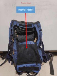 Backpack Internal Pocket