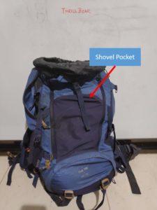Backpack Shovel Pocket
