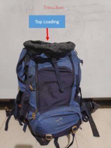 Backpack Top Loading