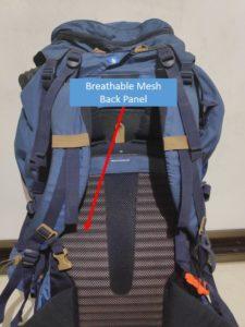 Backpack Ventilation - Breathable Back Mesh Panel